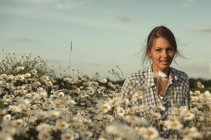 Картинка девушка лето